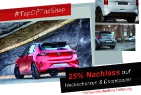 TOP OF THE SHOP 25% NACHLASS...